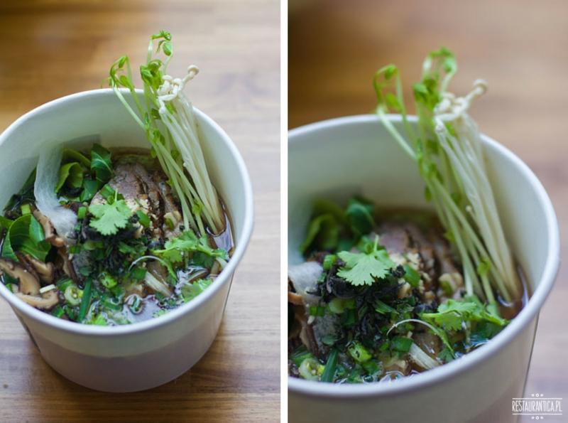 Enoki Street food noodles z kaczką