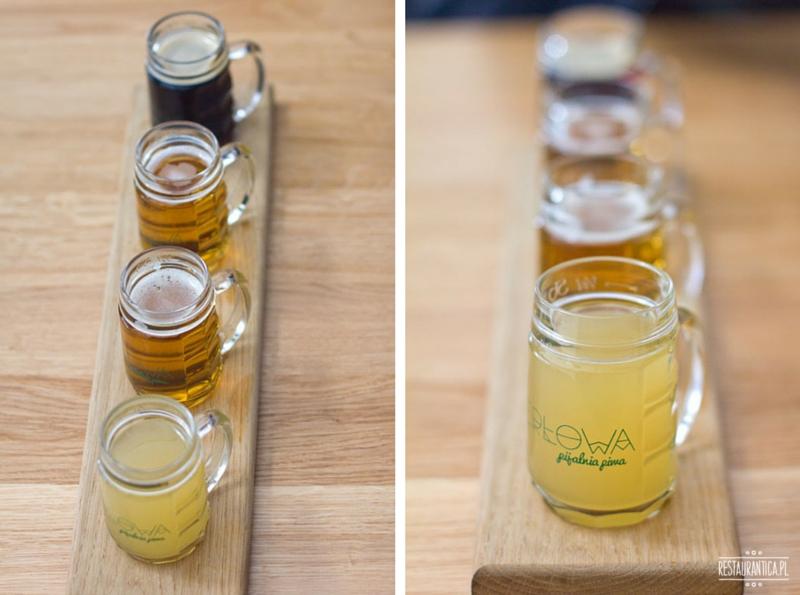 Perłowa deska degustacyjna piw