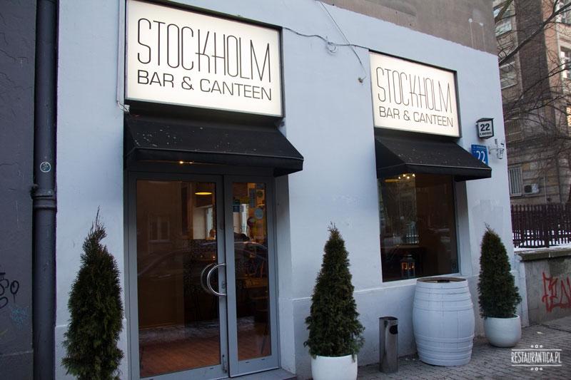 Stockholm Bar Canteen z zewnątrz Mokotowska 22