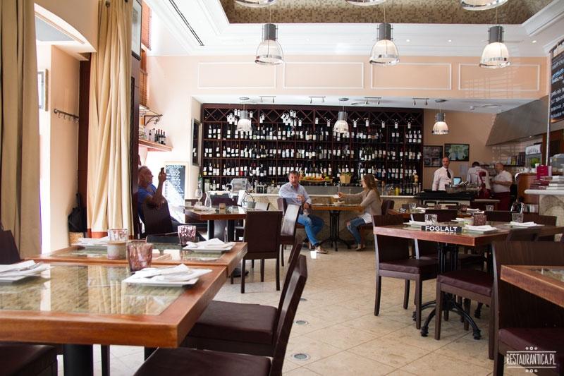 Bock Bisztro, wnętrze, Budapeszt, restauracja, winiarnia