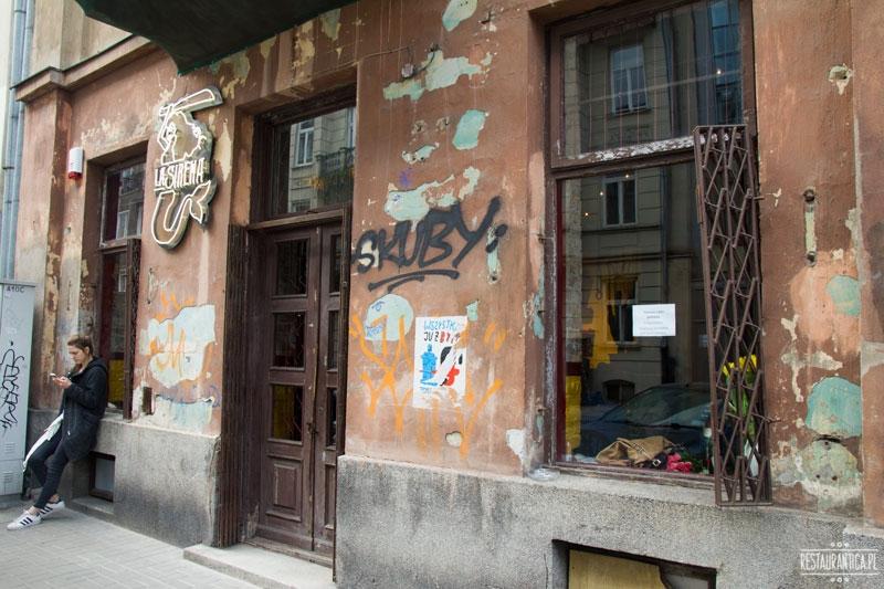 La Sirena Mexican Food Cartel, Piękna, Warszawa, meksykańska, bar, z zewnątrz