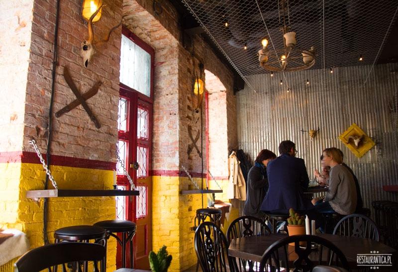 La Sirena Food Cartel, okno, wnętrze, restauracja, bar, Piękna, Warszawa