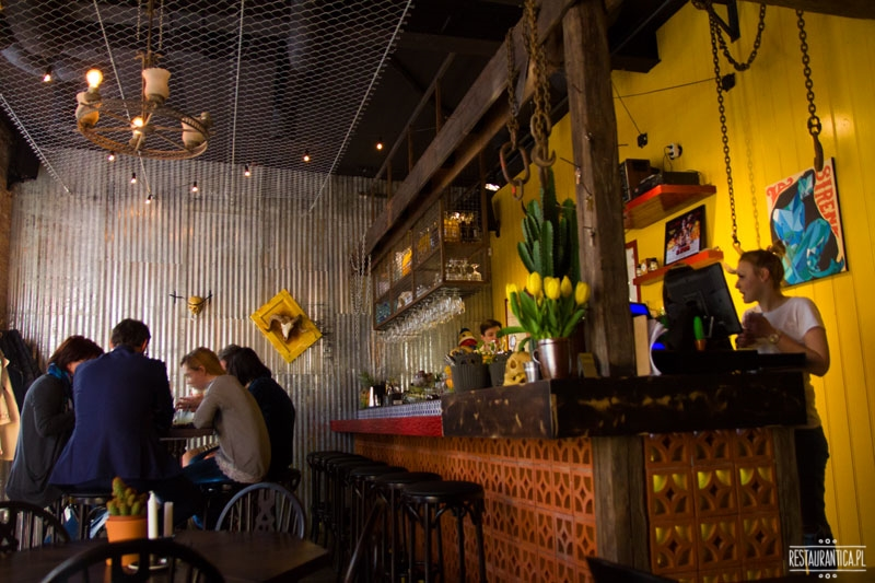 La Sirena Mexican, bar, wnętrze, Piękna, Warszawa