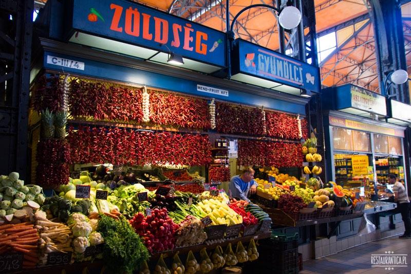 Great Food Market, Budapeszt, owoce
