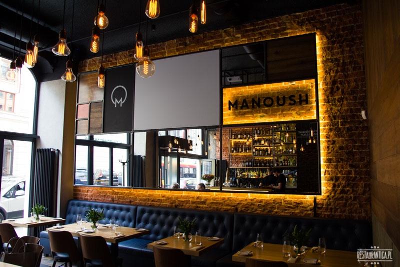 Manoush, restauracja, Jasna, Warszawa, wnętrze, lustro