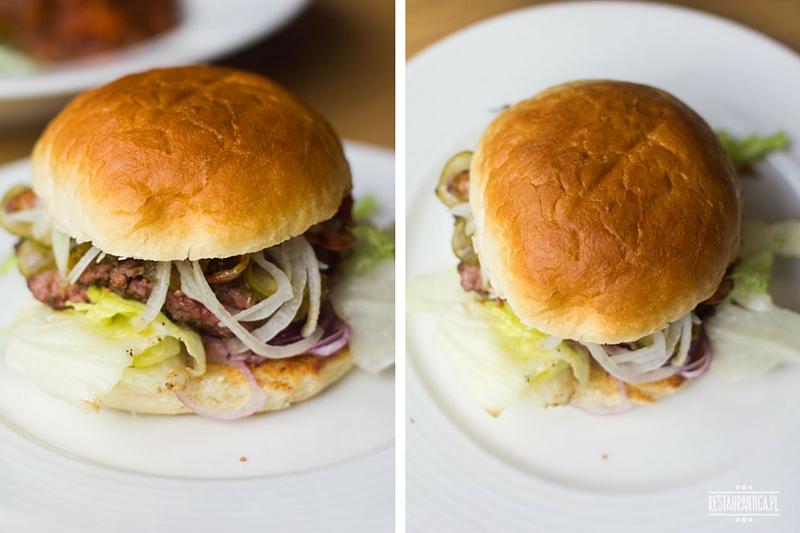 Warburger na talerzu, chilliburger, Żelazna, burgery