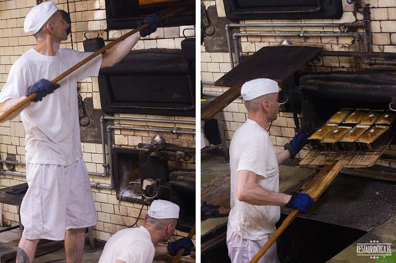 Piekarnia Piwoński, pieczenie chleba w starym piecu