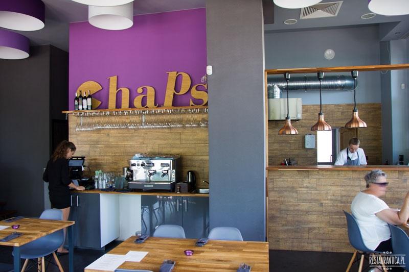 Chaps, wnętrze, otwarta kuchnia, restauracja, Ursynów