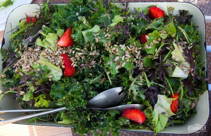 obiad na polu sałata