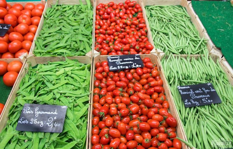 Targ Croix Rousse pomidory fasolka