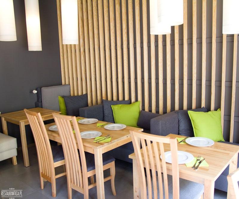 Basil Lime restauracja wnętrze