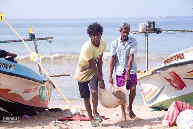 Targ Rybny Sri Lanka rybacy
