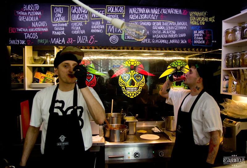 Gringo Bar wnętrze obsługa