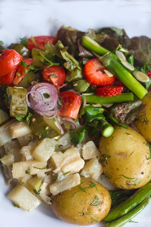 Dzik szparagi ziemniaki