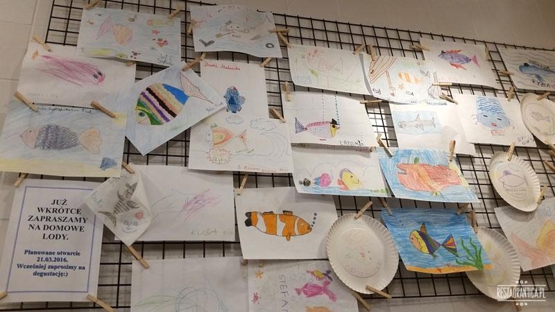 Ę Rybę rysunki dzieci