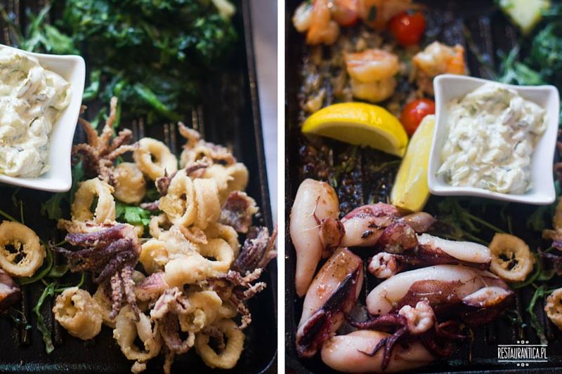 Papalina, zestaw owoców morza, Ursynów, restauracja