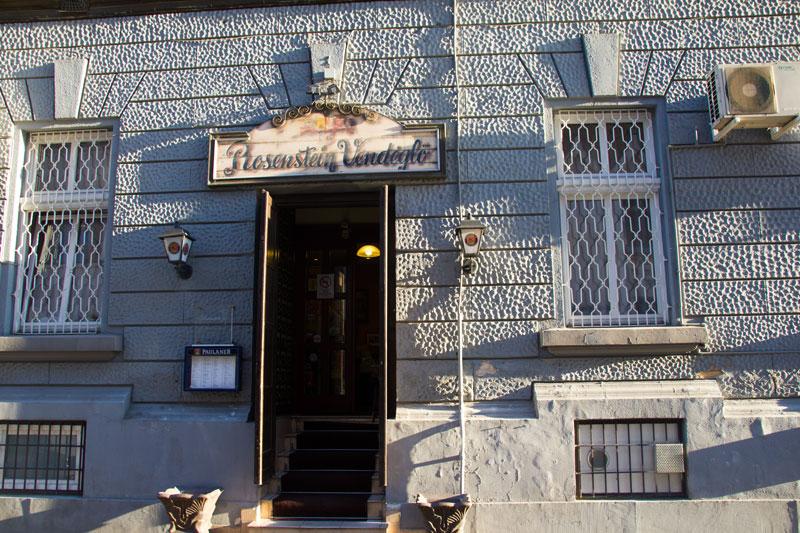 Rosenstein, Budapeszt, z zewnątrz, restauracja