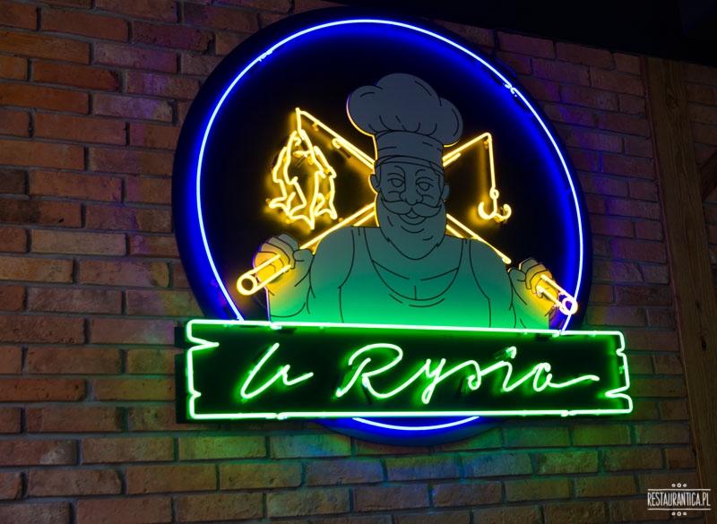 U Rysia neon, restauracja rybna, Warszawa, Marszałkowska