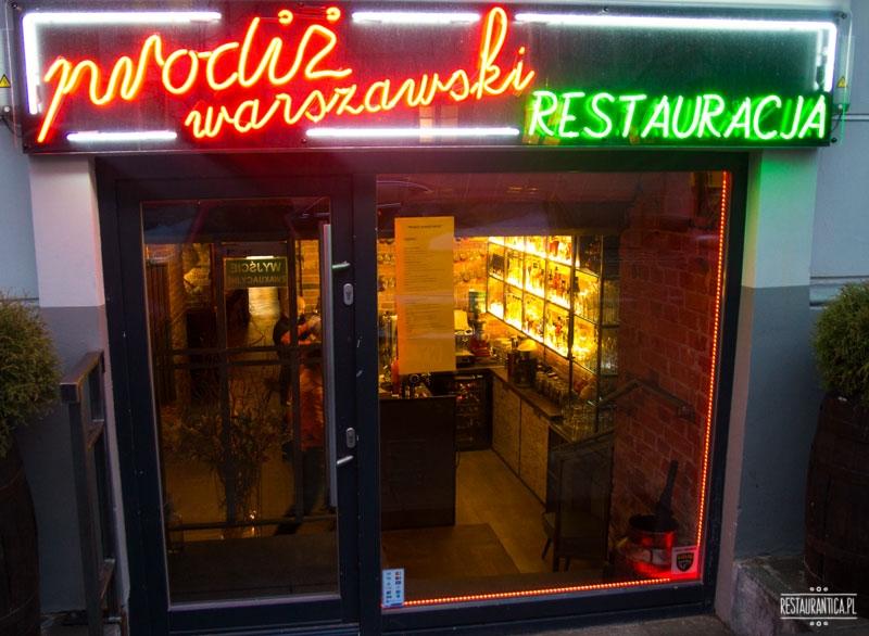 Prodiż Warszawski, restauracja, Poznańska, kuchnia polska, neon