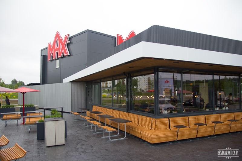 Max Premium Burgers z zewnątrz