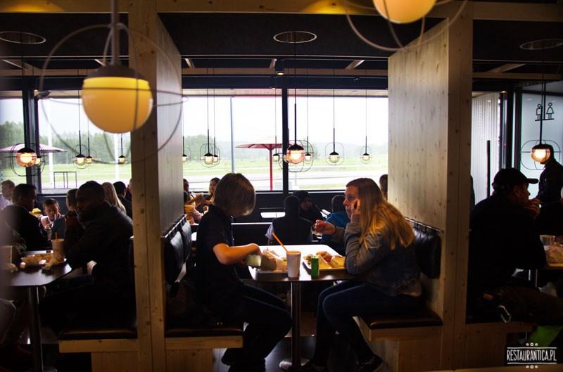 Max Premium Burgers Sztokholm wnętrze