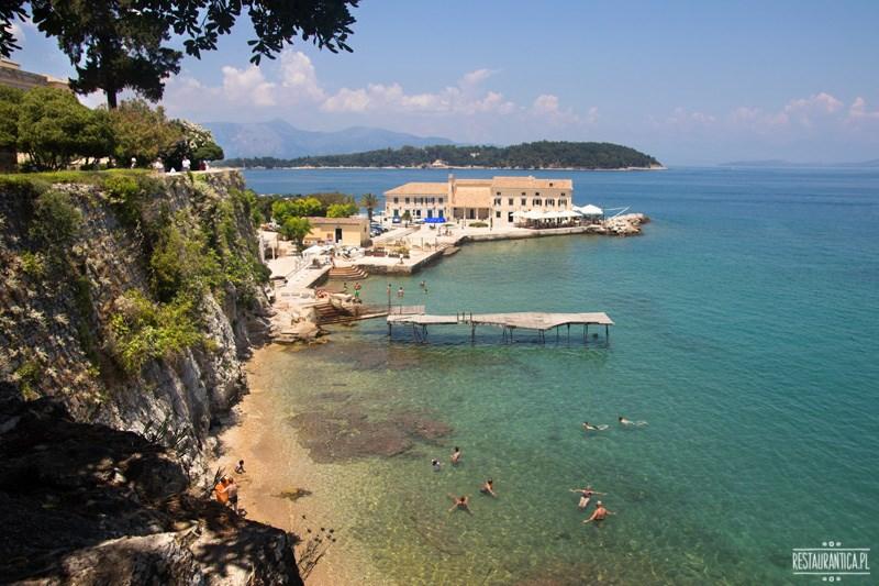 Korfu Town widok morze