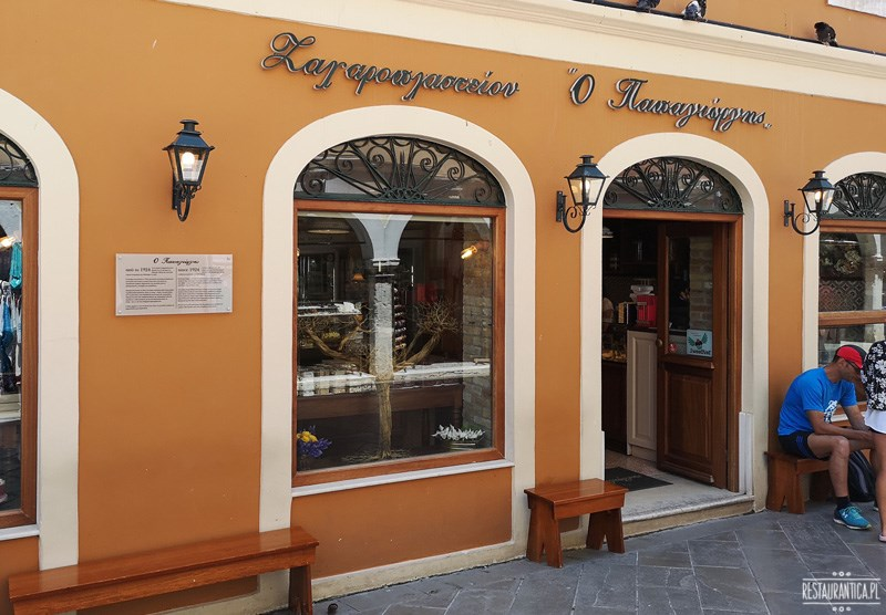 Korfu lodziarnia Papagiorgis