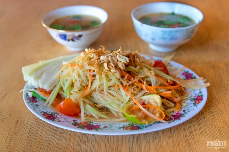 Bangkok Soi sałatka papaya