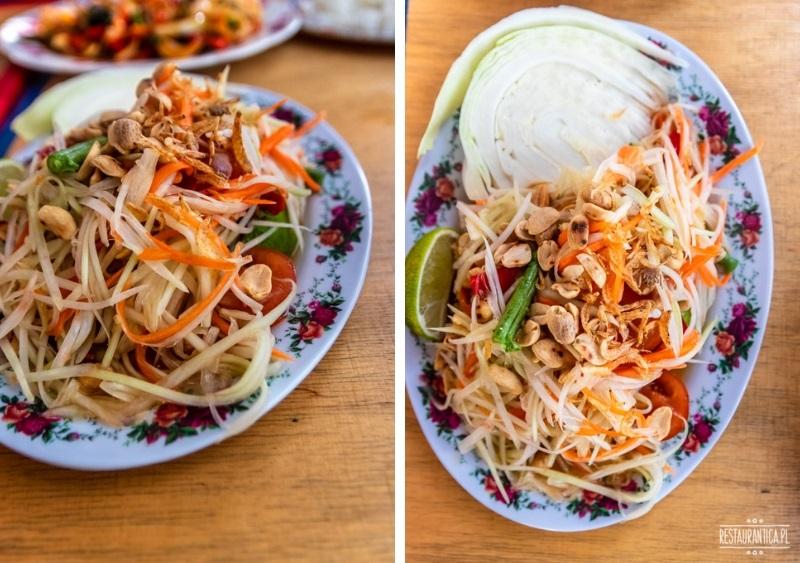 Bangkok Soi sałatka zielona papaja