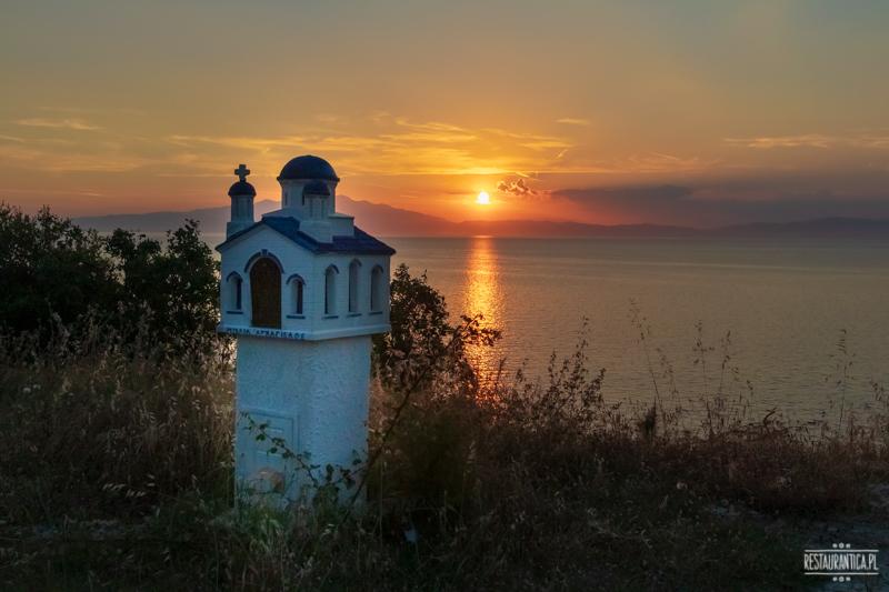 zachód słońca Thassos