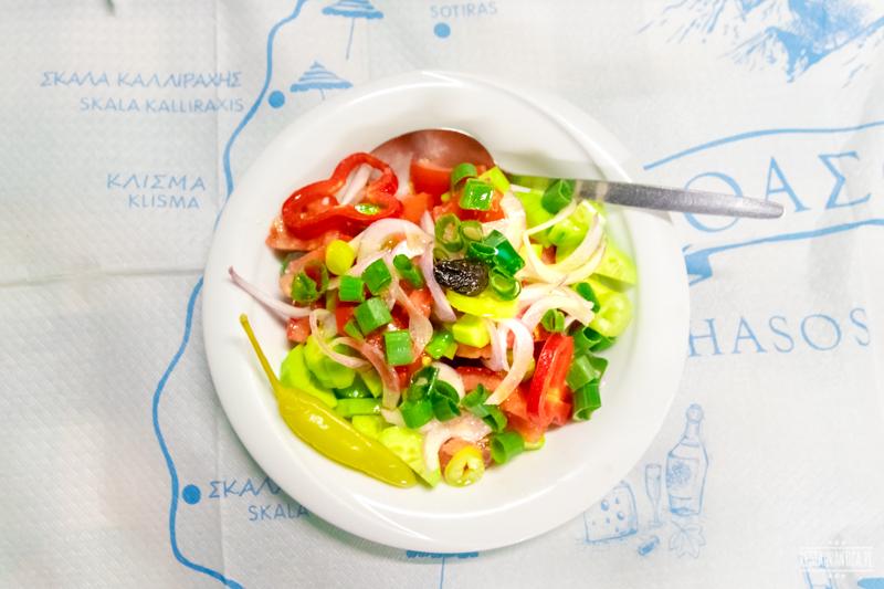 Thassos salatka grecka Klimataria